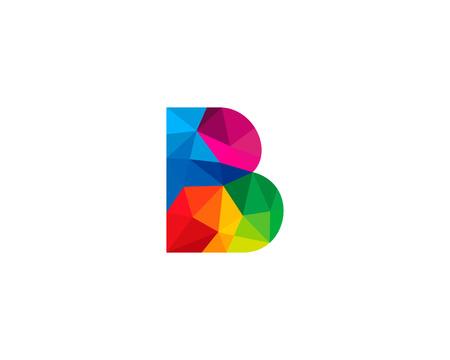 b: Letter B Icon Logo Design Element