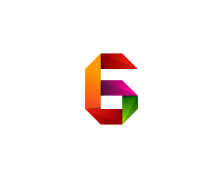 Colorful Ribbon Letter G Icon   Design Element