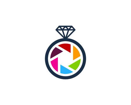 Diamant icône élément de design de logo Banque d'images - 80612314