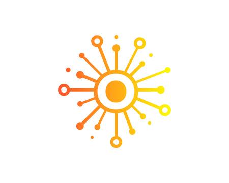 편지 O 아이콘 로고 디자인 요소 공유