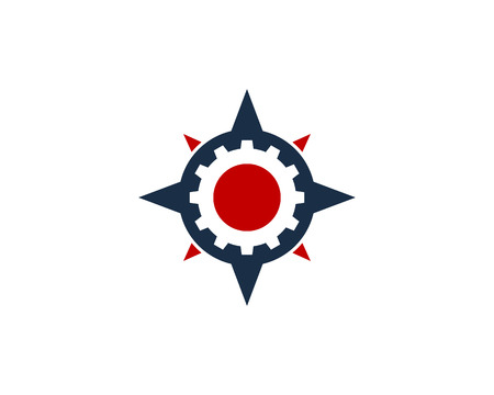 Gear Compass Icon Logo Design Element
