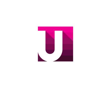 U 자 아이콘 로고 디자인 요소 일러스트