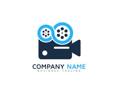 Élément de conception de logo d'icône vidéo Logo
