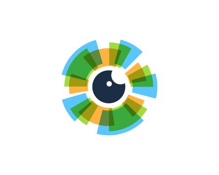 눈 아이콘 로고 디자인 요소 일러스트