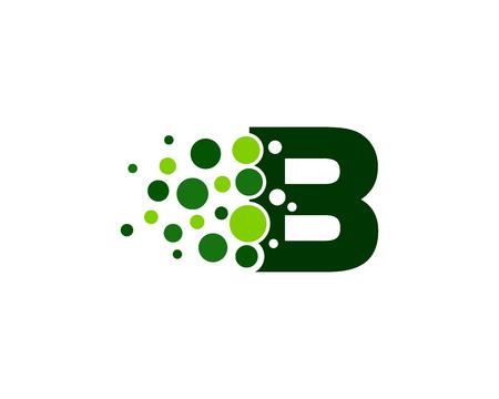 Buchstaben B Pixel Punkt Kreis Symbol Logo Design Element Standard-Bild - 80693179