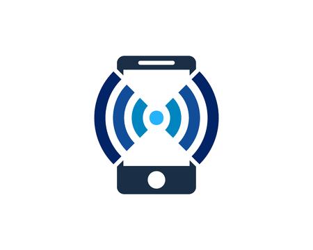 Mobile Phone Icon   Design Element Illustration