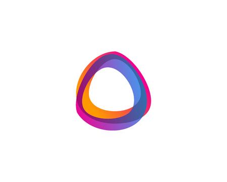 문자 O 아이콘 로고 디자인 요소 스톡 콘텐츠 - 80990444