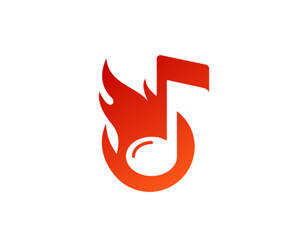 Fire Flame Icon Logo Design Element Stock Illustratie