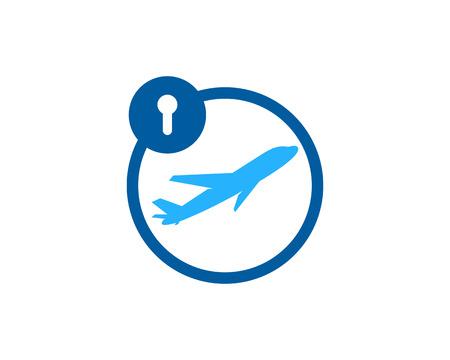 Pad Lock Icon Logo Design Element Illustration