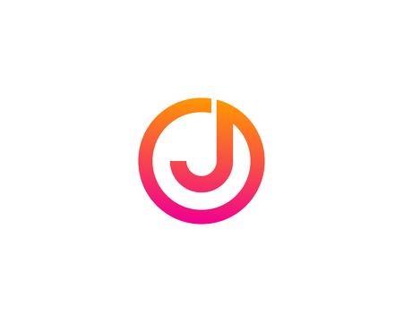 Letter J Icon Logo Design Element Logó