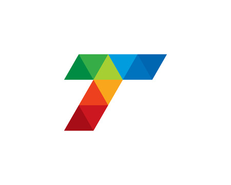 Letter T Icon Logo Design Element Illustration
