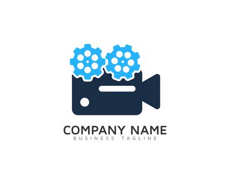 비디오 아이콘 로고 디자인 요소