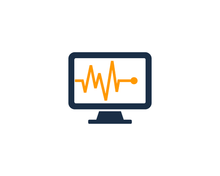 Medic Computer Icon Logo Design Element
