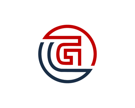 Letter G Circle Line Icon Logo Design Element