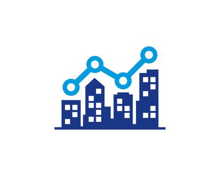 Immobilien-Ikone Logo Design Element Standard-Bild - 80797050