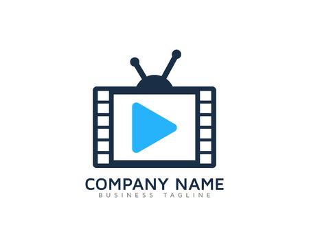 Video Icon Logo Design Element Фото со стока - 80768056