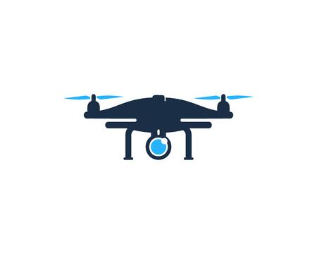 Drone Icono Elemento de diseño del logotipo Foto de archivo - 80612324