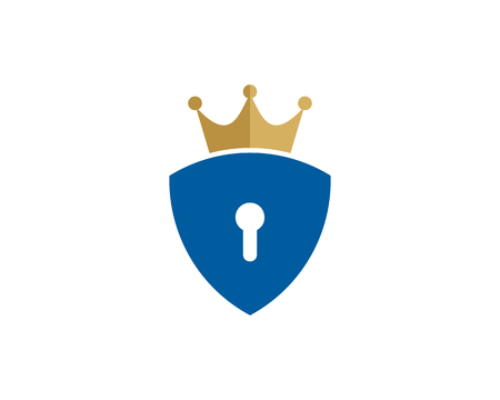 Security Icon Logo Design Element Zdjęcie Seryjne - 80768052