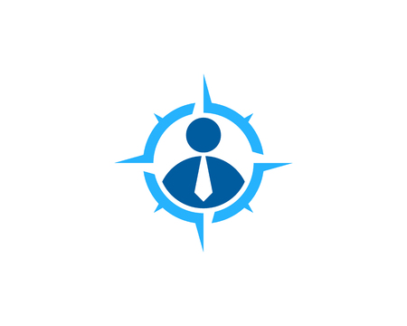 Work Compass Icon Logo Design Element