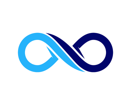 infinity icône logo de conception de logo