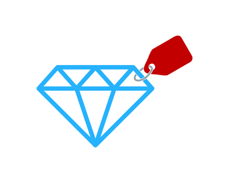 다이아몬드 아이콘 로고 디자인 요소