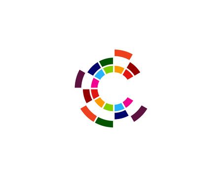 Lettera C Icon Design Elemento Design