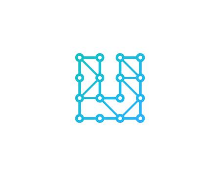 Letter U Icon Logo Design Element Illustration