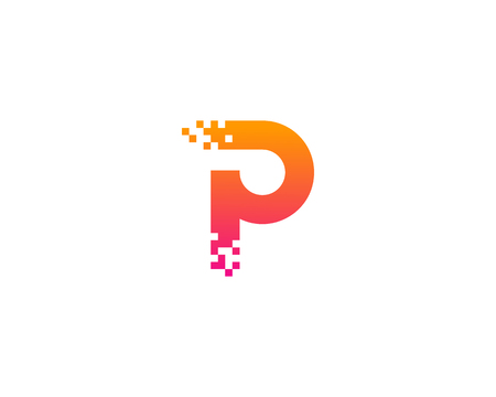 Letter P Icon Logo Design Element 向量圖像