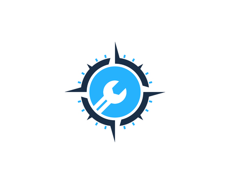 Repair Compass Icon Logo Design Element