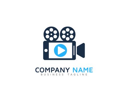 Icono de vídeo Elemento de diseño del logotipo Foto de archivo - 80819489