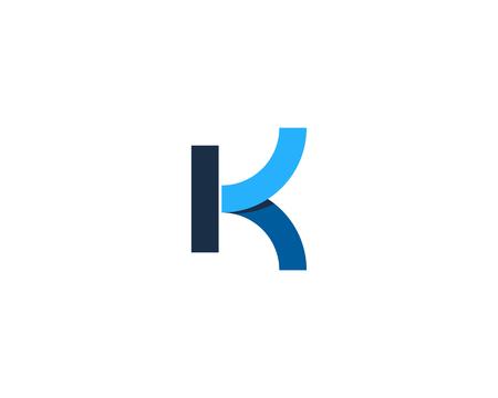 Letter K Icon Design Element