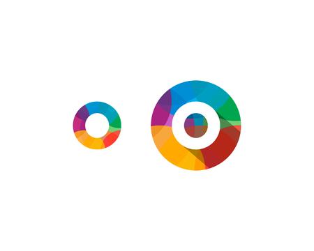 Letter O Multipy Color Icon Logo Design Element Logo