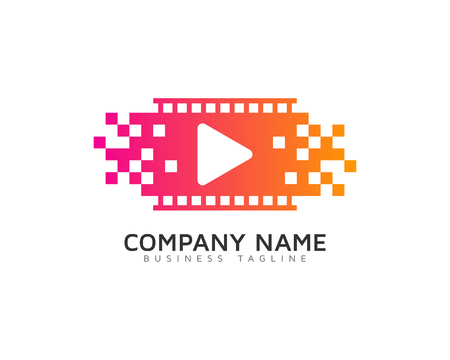 Video Icon Logo Design Element Standard-Bild - 80768061