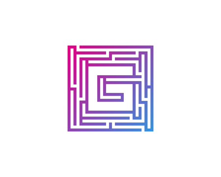 Maze Letter G Icon Logo Design Element