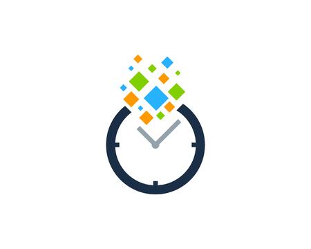 24: Time Icon Logo Design Element