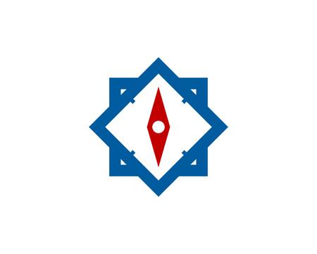 正方形コンパス アイコン ロゴのデザイン要素  イラスト・ベクター素材
