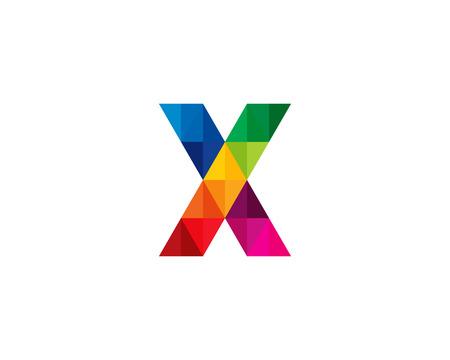 文字の X アイコン ロゴのデザイン要素  イラスト・ベクター素材
