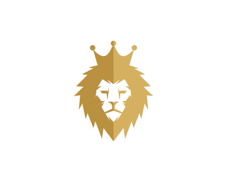 King icon logo design element Stok Fotoğraf - 80610923