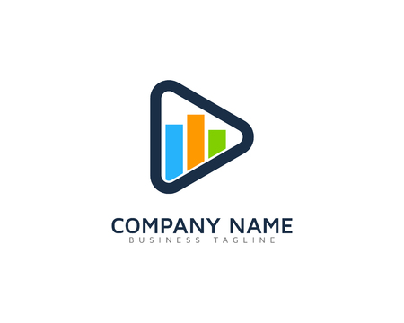logo music: Video Icon Logo Illustration