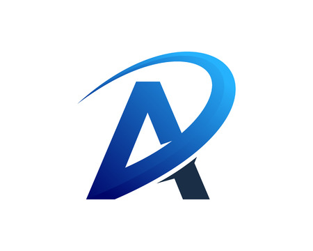 문자 A 아이콘 로고 디자인 요소 일러스트