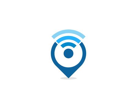 Wifi Icon Logo Design Element 일러스트