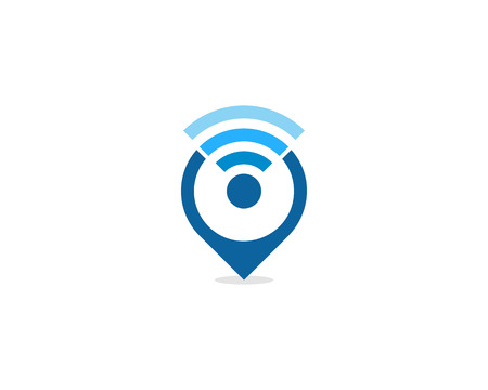 Wifi Icon Logo Design Element Stock Illustratie