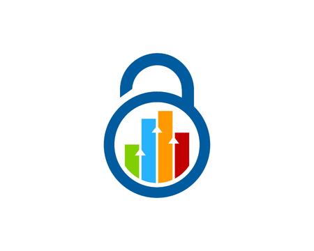 lockout: Pad Lock Icon Logo Design Element Illustration