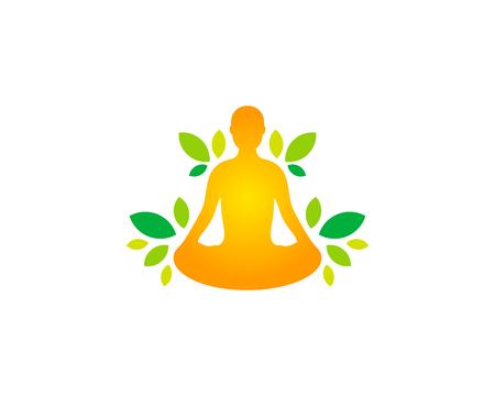 Bien-être icône logo de conception de logo Banque d'images - 80767805