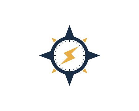 Power Compass Icon Logo Design Element Иллюстрация