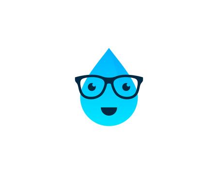 waterdrops: Water Icon Logo Design Element Illustration