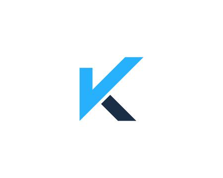 K の文字アイコン ロゴのデザイン要素