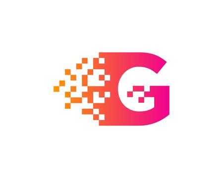 Letter G Icon Logo Design Element Illusztráció