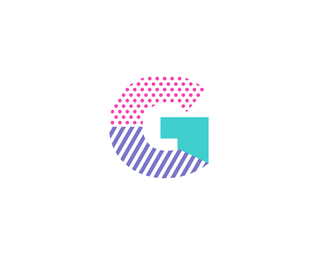 Geometric Letter G Icon Logo Design Element
