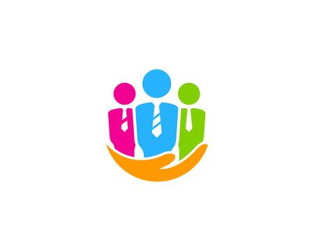 작업 아이콘 로고 디자인 요소 일러스트